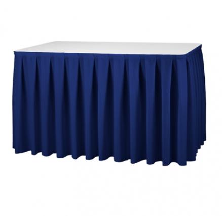 Box Pleat Skirting Royal Blue Dimensions