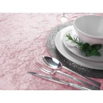 Pale Pink Crushed Velvet